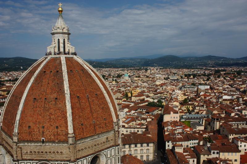 Duomo Kulesinden Floransa manzarası
