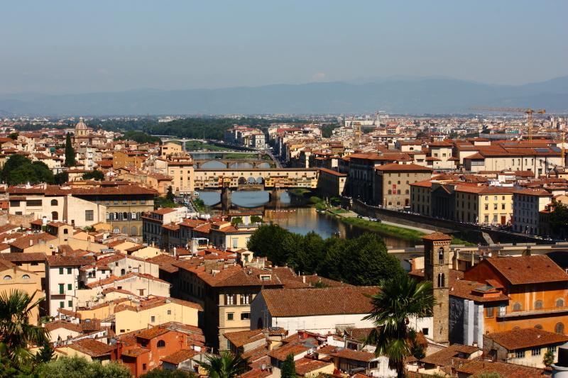 Michelangelo tepesinden Floransa sabahı