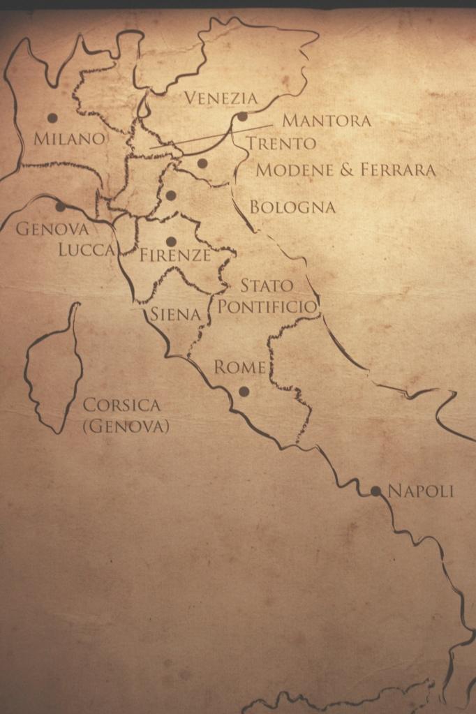 1500 senesinde İtalya haritası