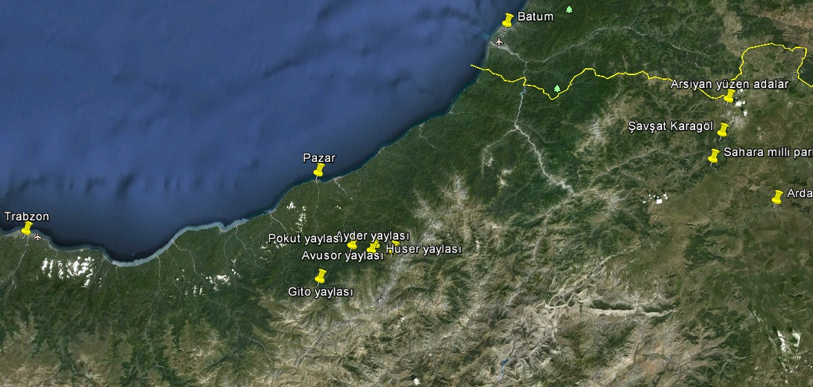 Karadeniz.2012 rotası