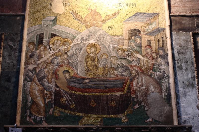 Kariye Müzesi - Meryem'in Ölümü (Koimesis) sahnesi