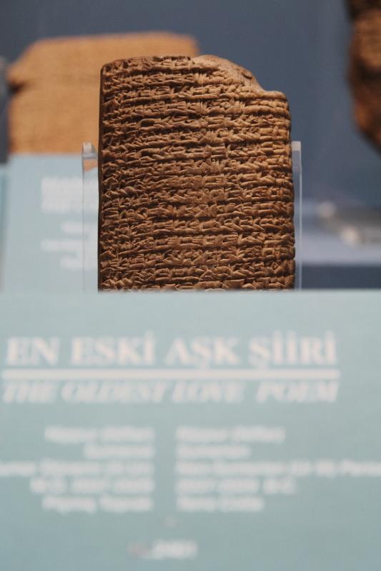 Dünyanın en eski aşk şiirinin yazıldığı kil tablet