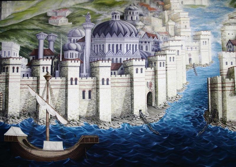 Bizans döneminde Galata ile Sarayburnu arasında gerilerek Haliç girişini kapatan zincir