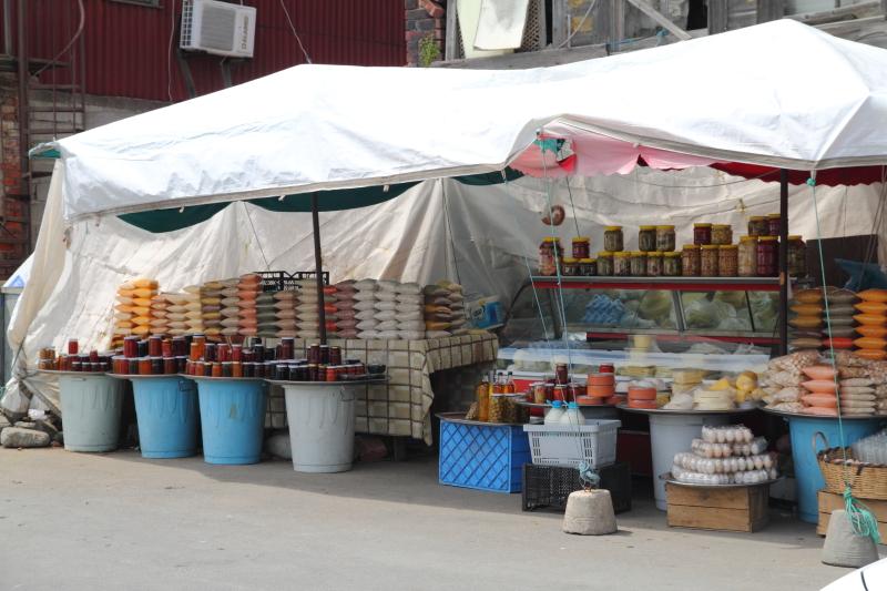 Garipçe köyü pazar tezgahları