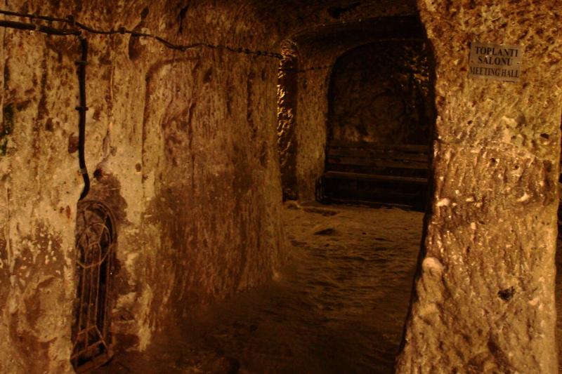 Derinkuyu yeraltı şehri - toplantı odası