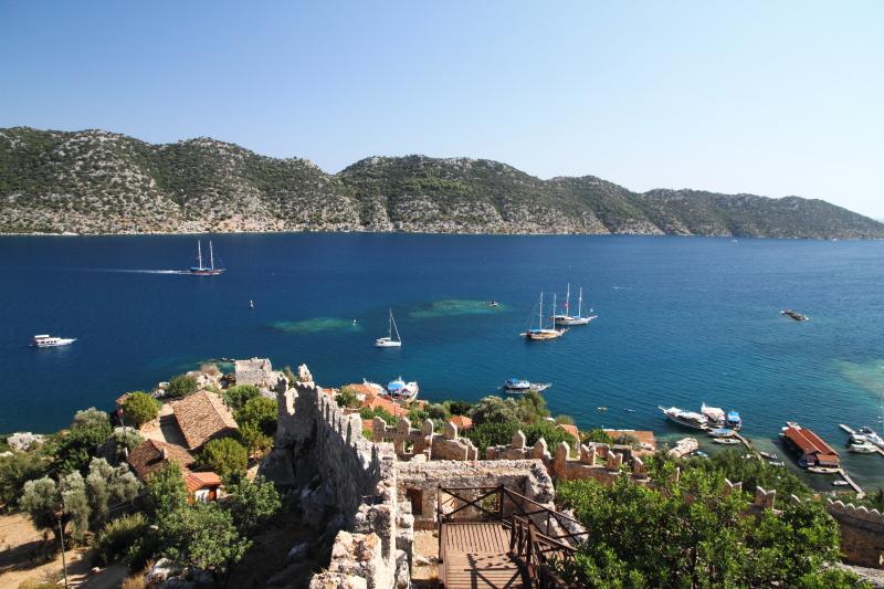Simena kalesinden Akdeniz mavisi!