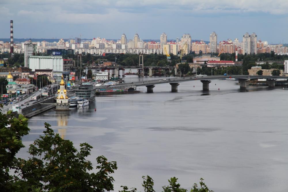 Dostluk tepesinden Kiev manzarası