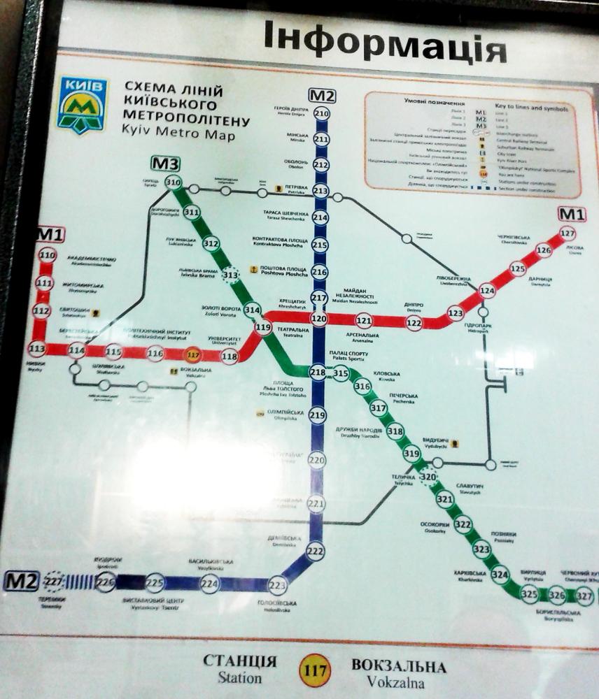 Kiev metro haritası