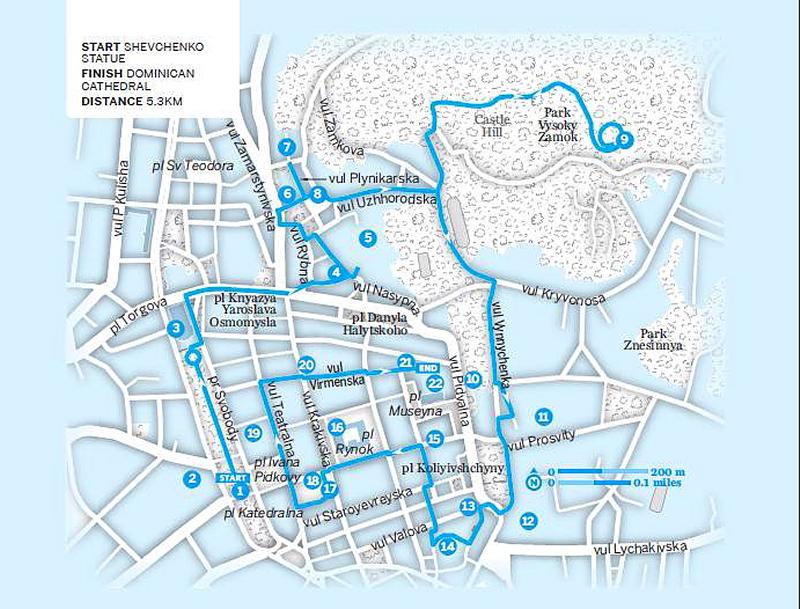 Lviv - Lonely Planet haritası