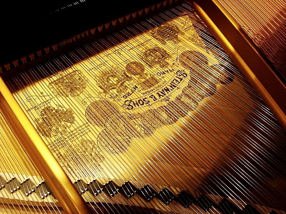 """""""Steinway and Sons"""" piyanosun kapağı"""