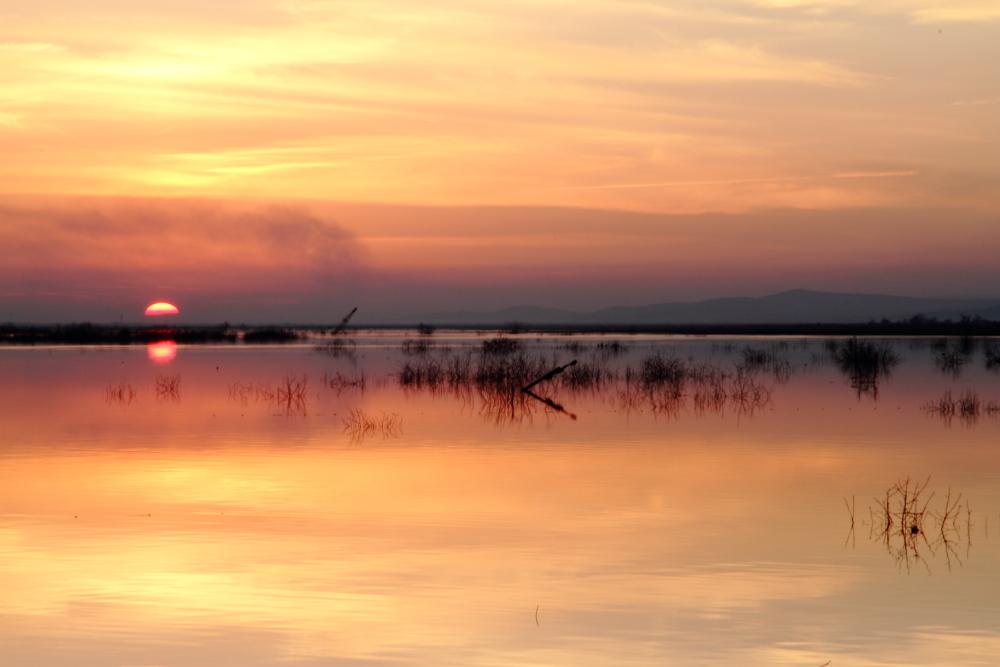 Obruk'da gün batımı