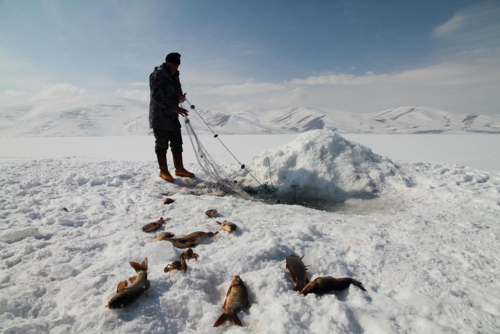 Çıldır gölünde balık avı
