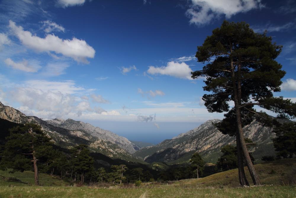 Beydağları Milli Parkı, Üçoluk mevkiinden Akdeniz manzarası