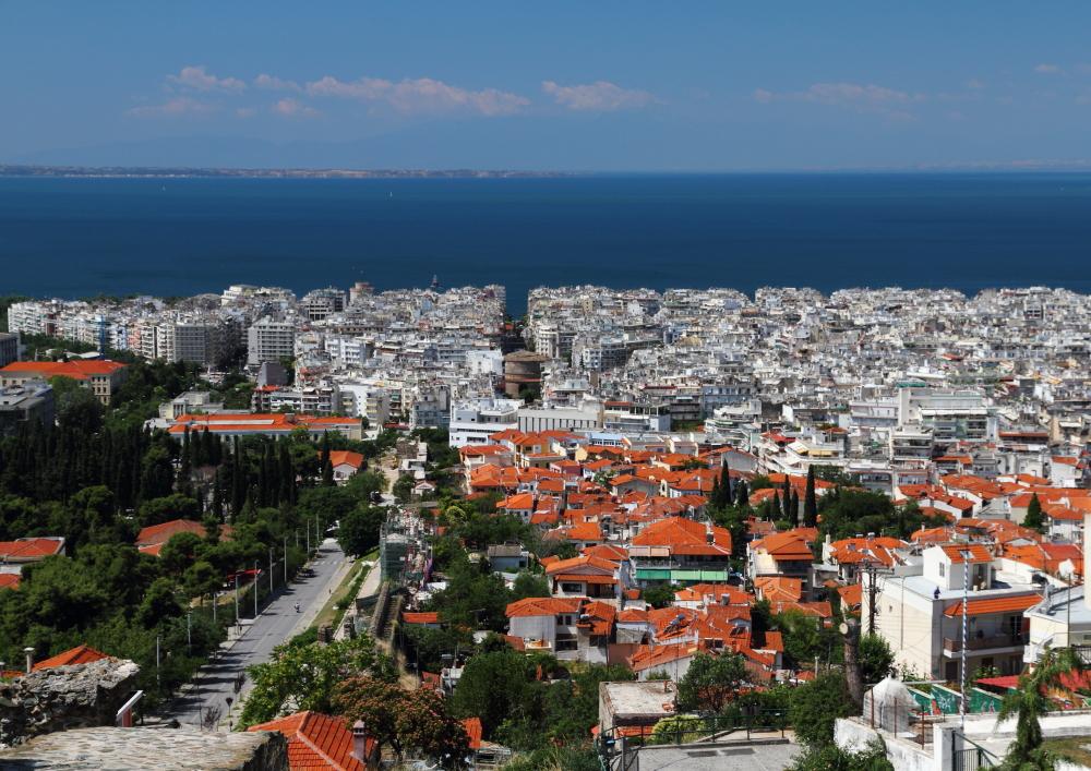 Kale surlarından Selanik manzarası