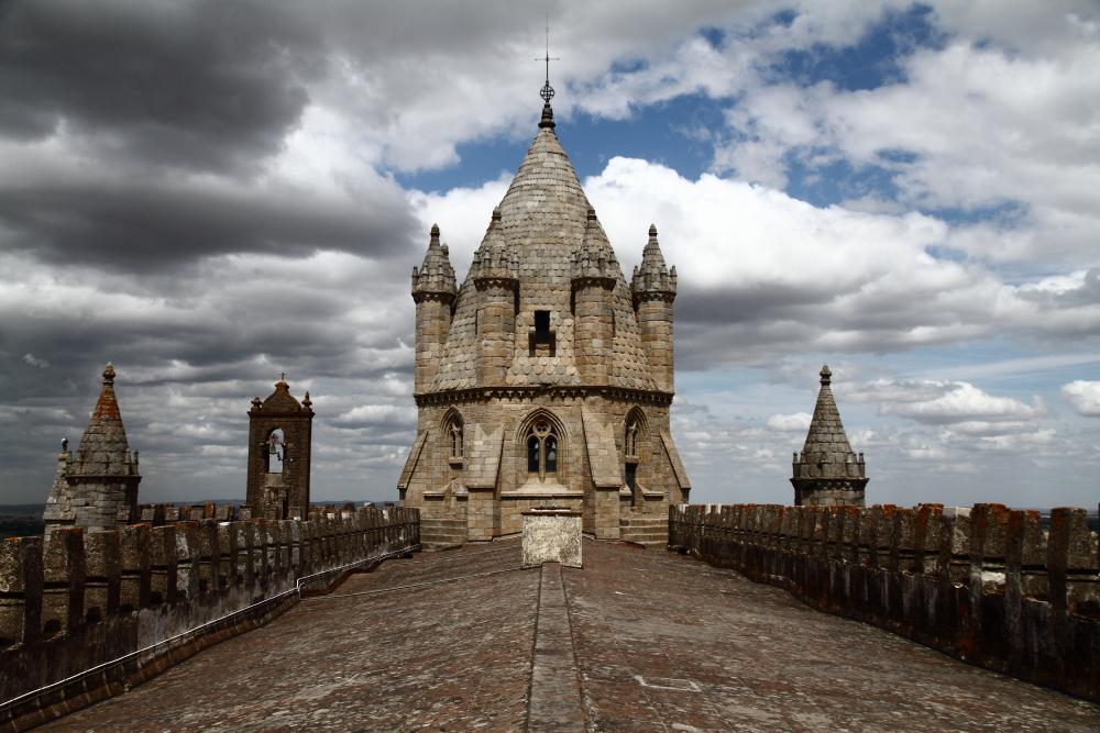 Evora Katedrali kulesinden manzara (Se de Evora)