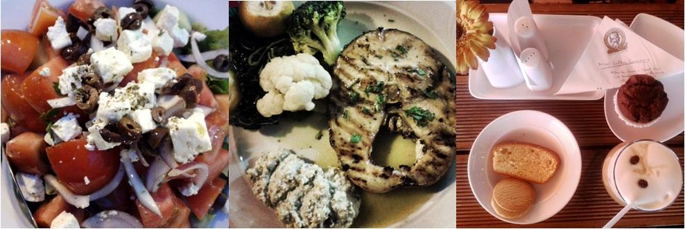 Selanik yemekleri: Greek salad | Kılıç balığı | Mikel'de kahve keyfi