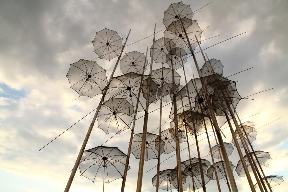 Selanik'in şemsiyeleri