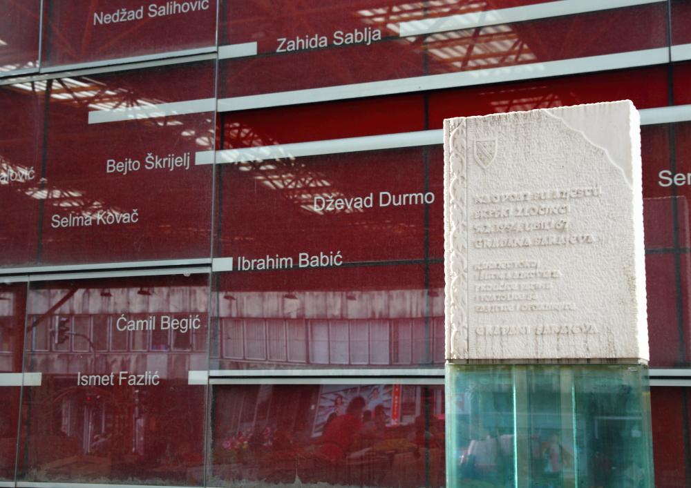 Saraybosna'da Markale pazarı
