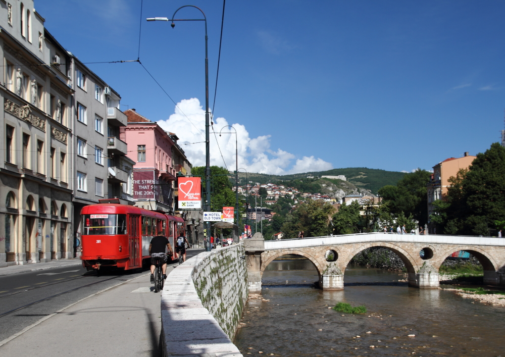 Latin Köprüsü ve tramvay