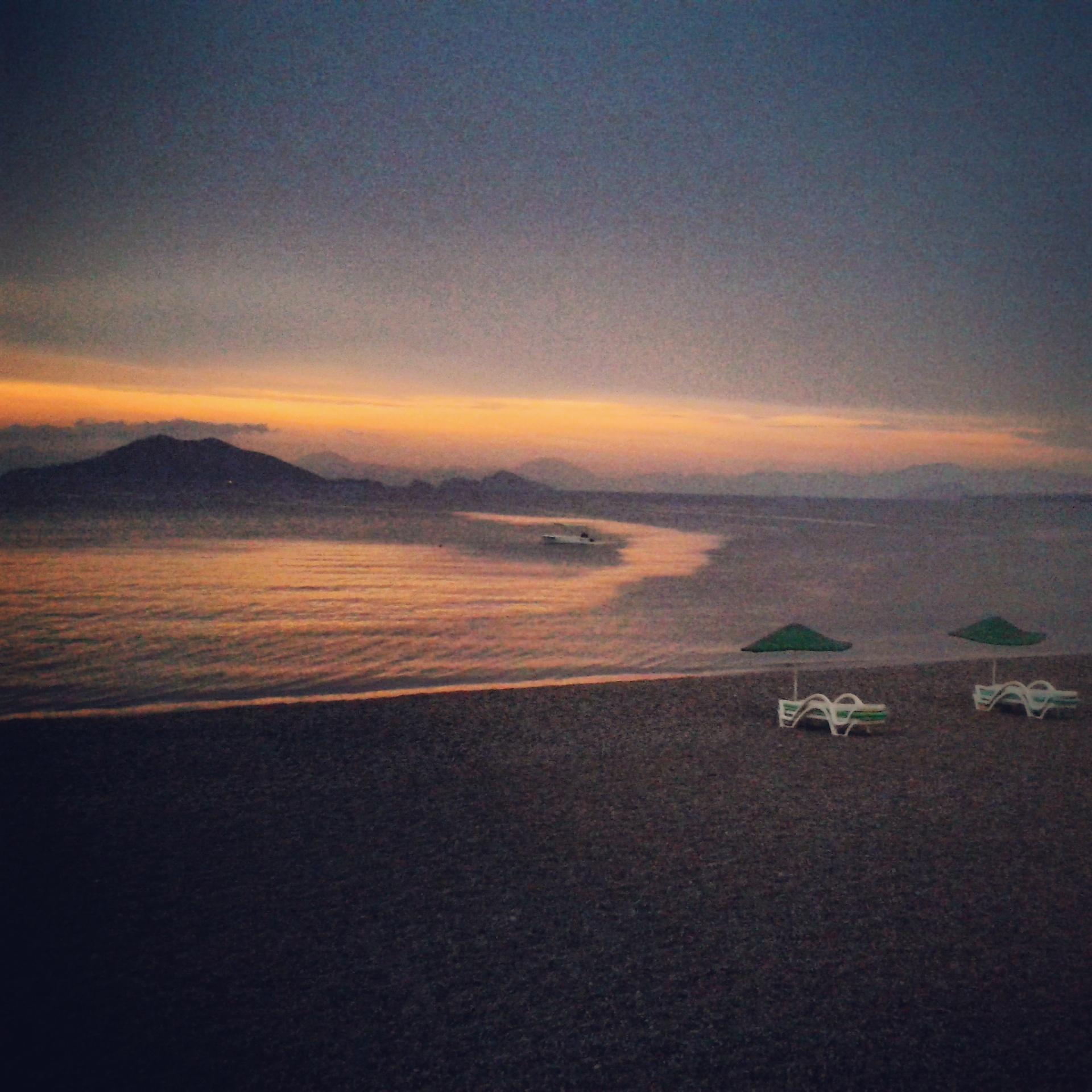 Çalış Plajı'nda gün batımı